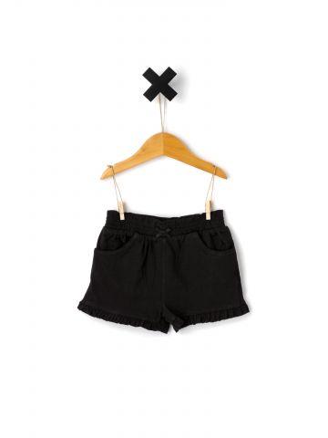 מכנסיים קצרים עם סיומת מלמלה