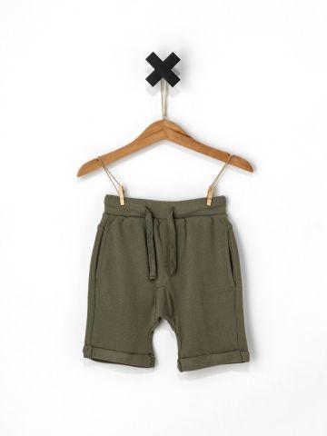 מכנסי ברמודה קצרים בטקסטורה מחוספסת / בייבי בנים - בנים