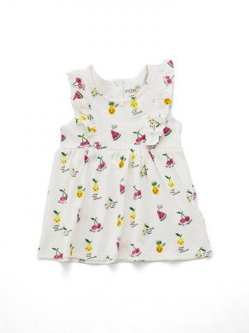 שמלת פפלום בהדפס פירות עם מלמלה