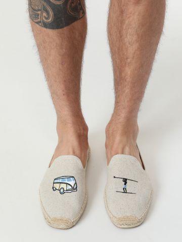 נעלי מוקסין אספדריל עם פאצ'ים Surf Smoking Slippers