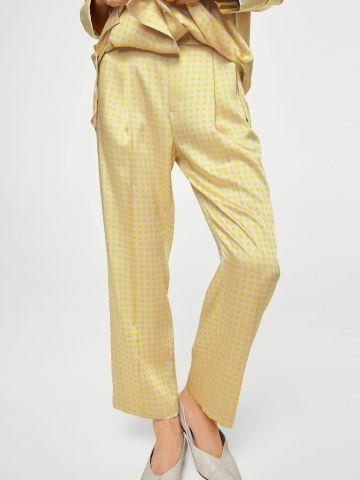 מכנסיים מחויטים משובצים