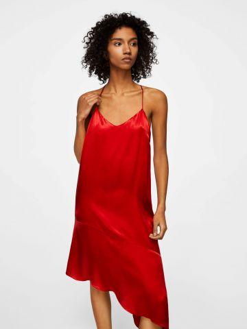 שמלת מידי דמויית סאטן