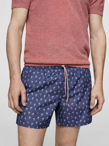 מכנסי בגד ים בהדפס דקלים