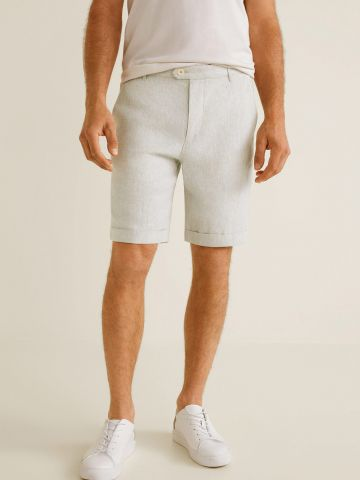 מכנסי פשתן ברמודה