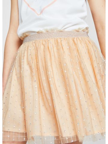 חצאית טול עם עיטורי פאייטים / בנות