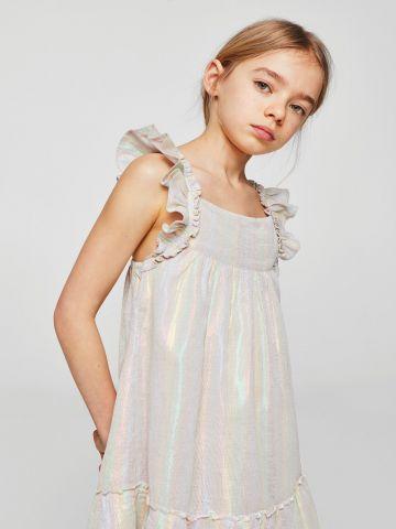 שמלת עם כתפיות מלמלה