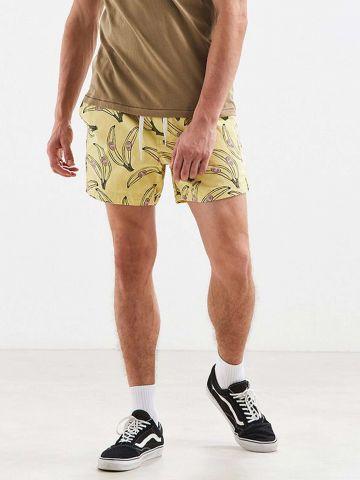 מכנסיים קצרים בהדפס בננות UO