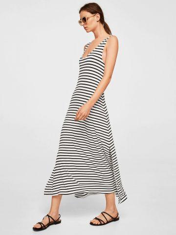 שמלת מקסי בהדפס פסים