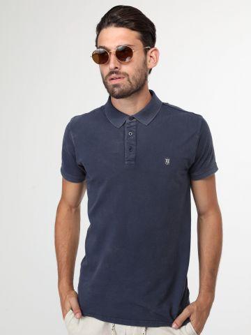 חולצת פולו בסגנון עם לוגו המותג