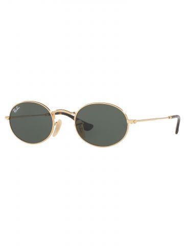 משקפי שמש אובליים עם עדשות שטוחות Oval Metal