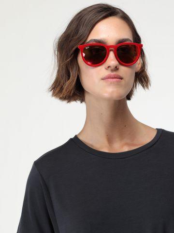 משקפי שמש עגולים עם מסגרת קטיפה Erika