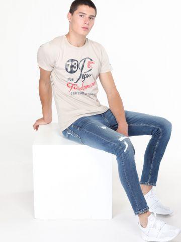 ג'ינס סקיני עם קרעים Finsbury