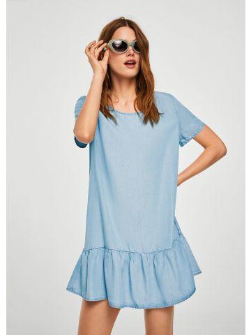שמלת ג'ינס עם פפלום נמוך
