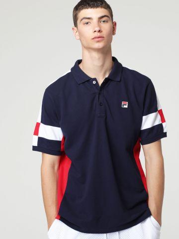 חולצת פולו פאנל עם לוגו