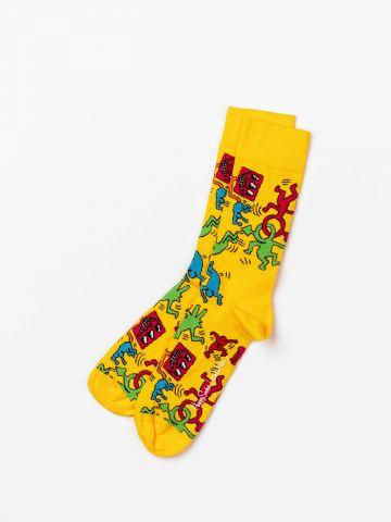 גרביים לגבר Keith Haring