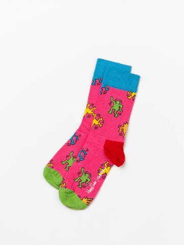 גרביים לאישה Keith Haring