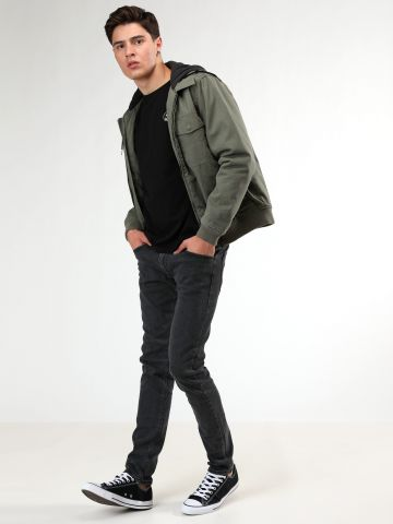 ג'ינס סקיני בשטיפה כהה Luke