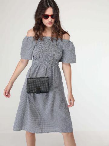 שמלת אוף שולדרס כיווצים