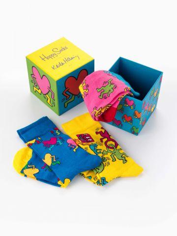 מארז גרביים בהדפס צבעוני / נשים