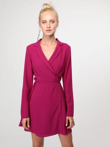 שמלת בלייזר מעטפת עם צווארון