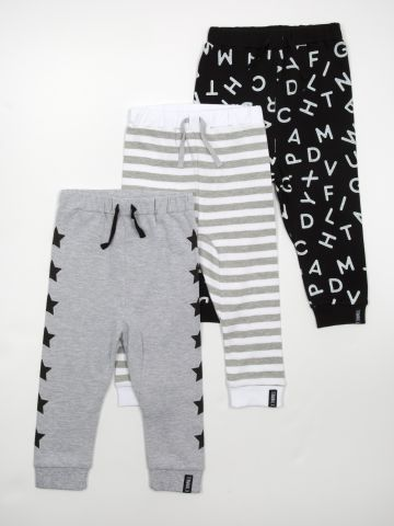 מארז 3 מכנסיים ארוכים בהדפסים שונים / בייבי בנים