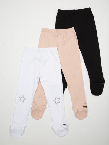 מארז 3 מכנסיים עם רגליות / בייבי בנות