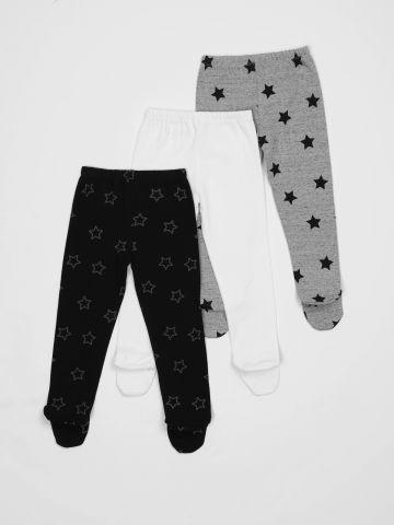 מארז 3 מכנסיים עם רגליות בהדפס כוכבים / בייבי בנים