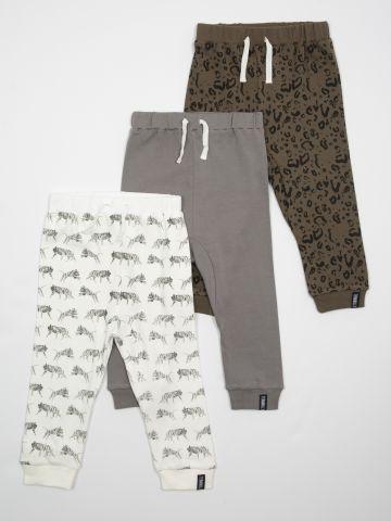 מארז 3 מכנסיים בהדפסים שונים / בייבי בנים