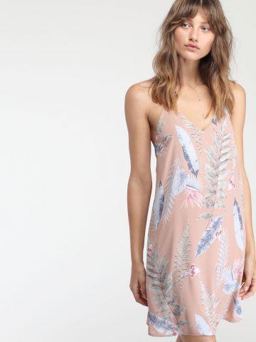 שמלת שיפון מיני בהדפס פרחים