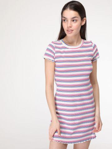 שמלת ריב פסים צבעוניים