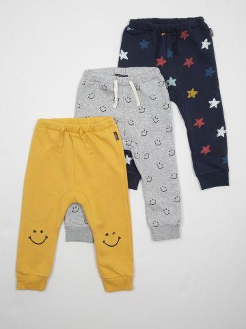 מארז 3 מכנסי פוטר עבים בהדפסים שונים / בייבי בנים