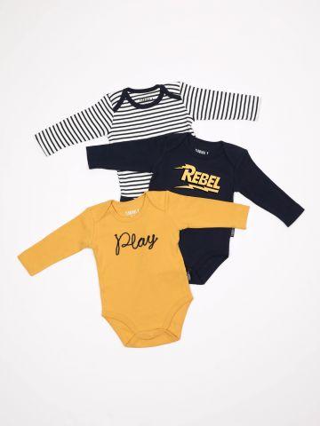 מארז 3 בגדי גוף בעיצובים שונים