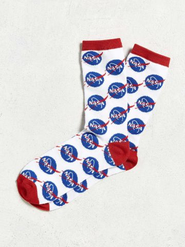 גרביים לגבר בהדפס NASA