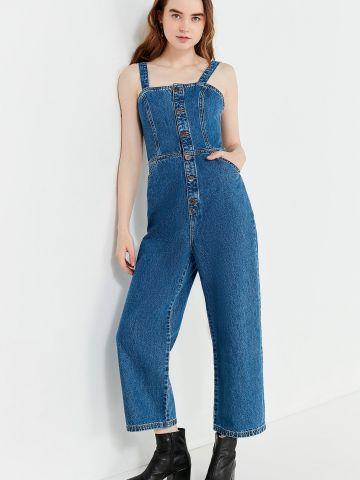 אוברול ג'ינס עם כפתורים בחזית UO