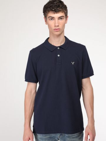 חולצת פולו קלאסית לוגו