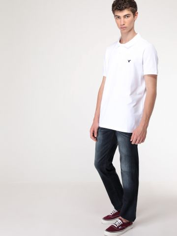 ג'ינס גזרה ישרה עם הלבנה Extreme Flex Slim Straight Jean