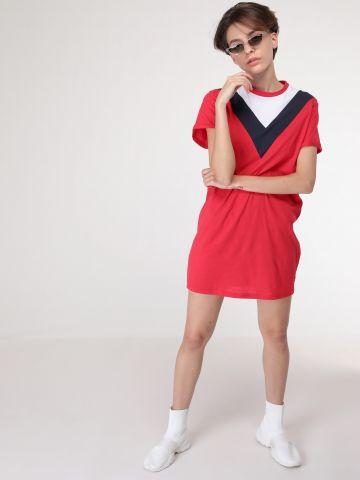 שמלת קולור בלוק