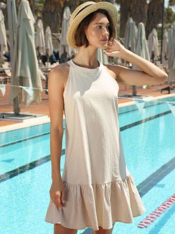 שמלת קולר מיני פפלום