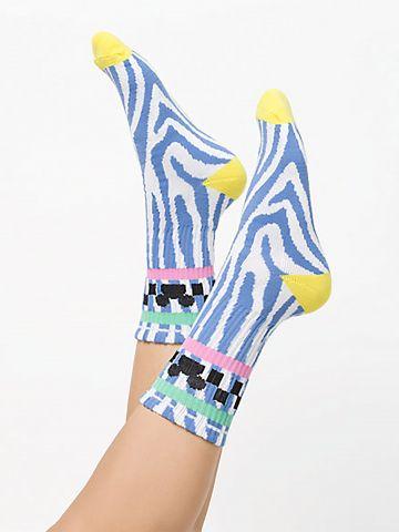 גרביים גבוהים בהדפס מיקי מאוס צבעוני Vans X Disney / נשים