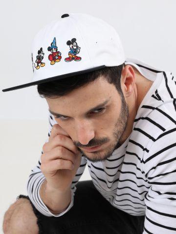 כובע מצחייה עם רקמת מיקי מאוס צבעונית Vans X Disney / גברים