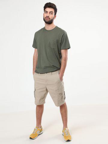 """מכנסי דגמ""""ח קצרים לוגו"""