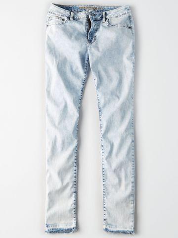 ג'ינס סקיני אסיד ווש בהיר Extreme Flex / גברים