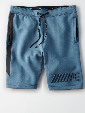 מכנסי טרנינג קצרים עם לוגו בולט Jogger
