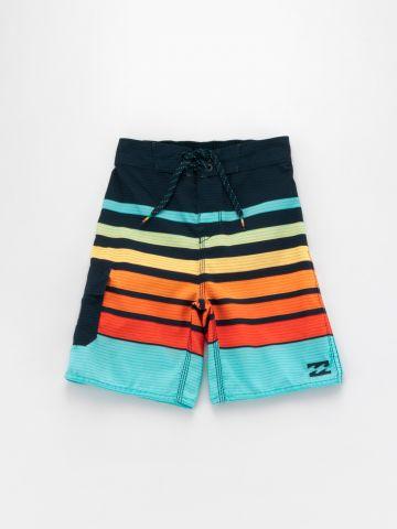 מכנסי בגד ים פסים צבעוניים / בנים