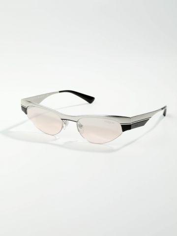 משקפי שמש צרים עם מסגרת מטאלית