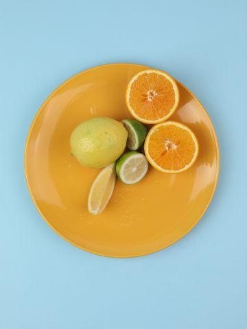 מארז 6 צלחות פורצלן בצבע צהוב Fine / עיקרית