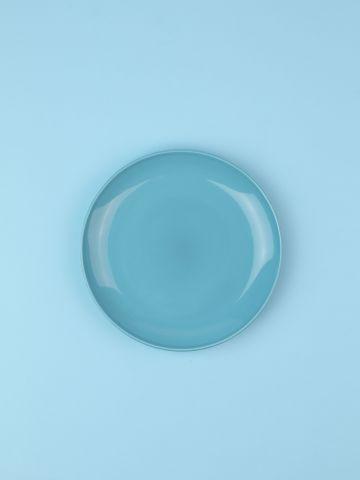 מארז 6 צלחות פורצלן בצבע כחול Fine / ראשונה