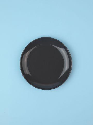 מארז 6 צלחות פורצלן בצבע אפור כהה Fine / ראשונה