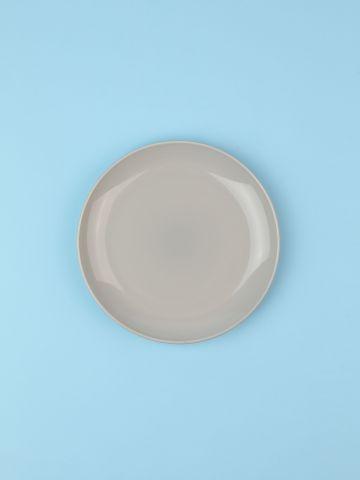 מארז 6 צלחות פורצלן בצבע אפור בהיר Fine / ראשונה