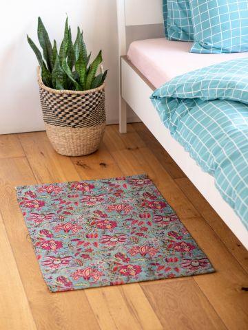 שטיח נוי בהדפס פרחים